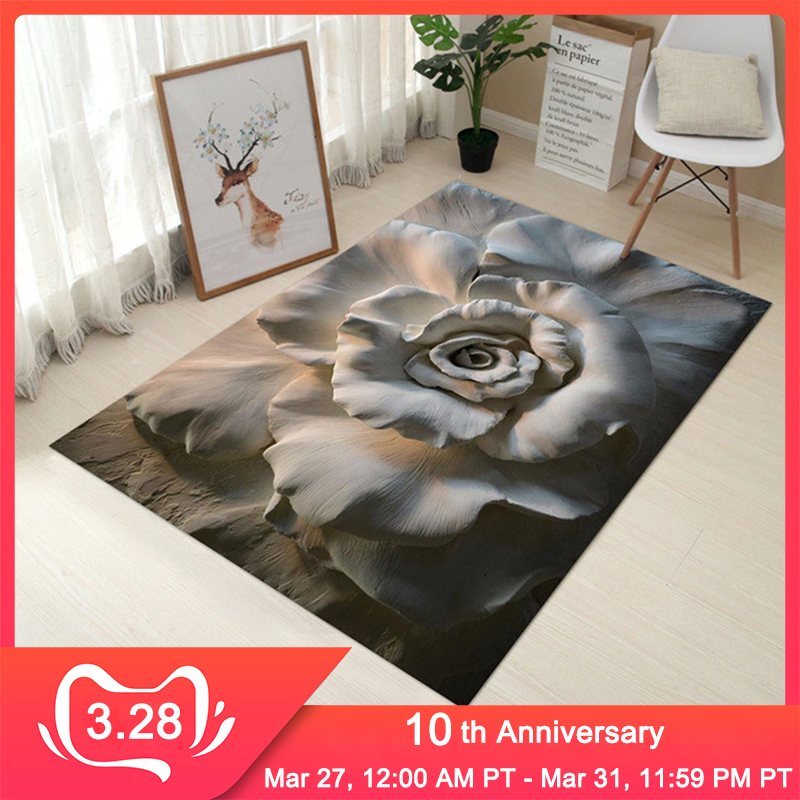 RFWCAK 3D Personal Creative Carpet Europe Carpet Bedroom Door Mat Bathroom Non-slip Living Room Carpet Kitchen Water Absorption