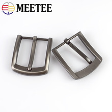 Meetee 5pcs 40mm Alloy Mens Belt Buckle High Quality Metal Pin Cowboy Head DIY Casual Jeans Leather Decor Accessories