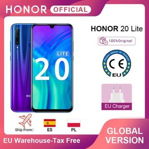 Глобальная версия смартфона Honor 20 Lite, 4 Гб, 128 ГБ, передний экран 32 МП, Восьмиядерный процессор Kirin 710, Android 9,0, камера заднего вида 24 МП