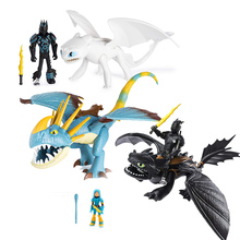 New 923cm Dragon Light Fury Toothless Action figure White Dragon Toys For Children's Birthday Gifts цена