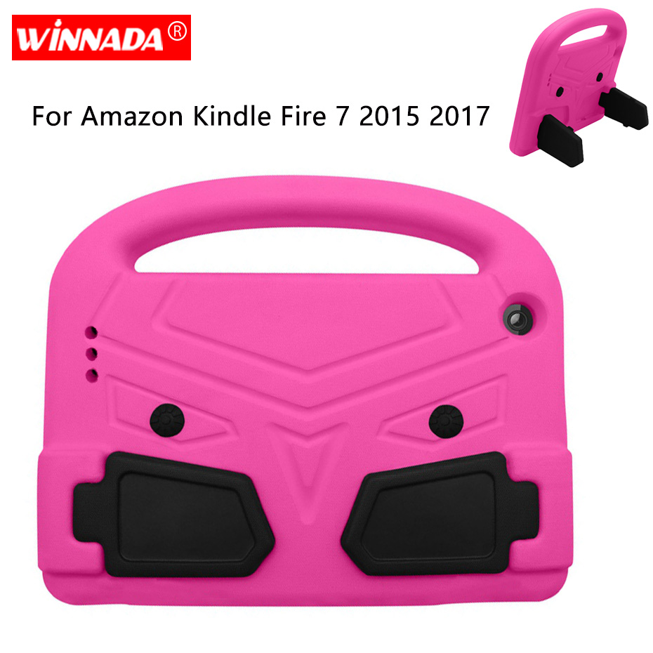 For Amazon Kindle Fire 7 2017 Case bird Kids stand Tablet case Shell shockproof EVA Hand-held Cover for Kindle Fire7 2015 image