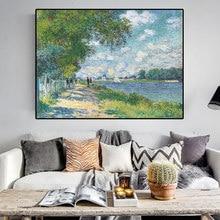Impression sur toile de peinture à l'huile de johnny Monet, sur le mur, affiche imprimée