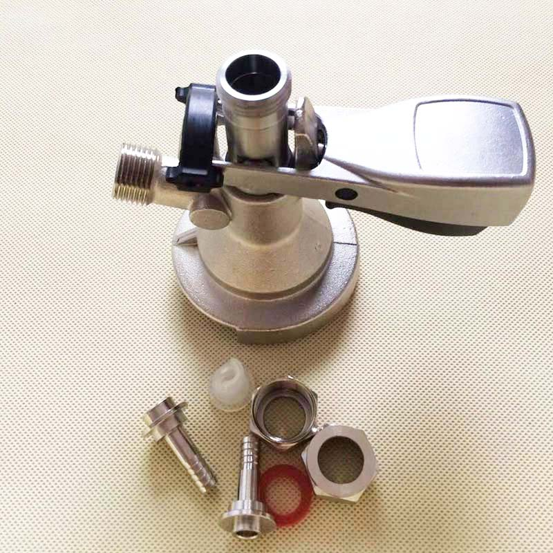 A type keg coupler keg head with metal handle 5 8 39 G Draft beer kegging tool for bar or homebrew in Other Bar Accessories from Home amp Garden