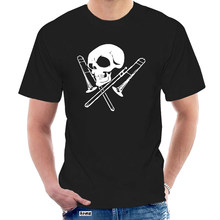 comfortable Brand Men Fashion Skull And Trombone 3D Printed Tee Shirts MenHigh Quality Short Sleeve Tops @056990