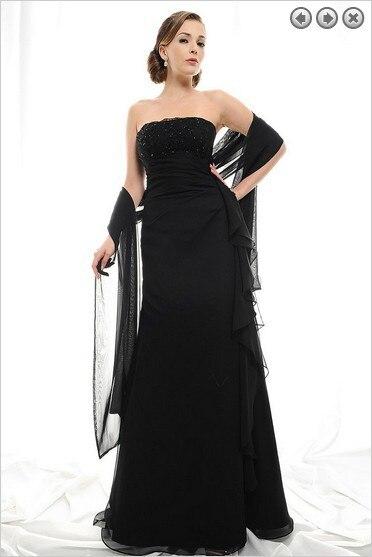 Free Shipping New Design 2016 Elegant Dinner Dress Off The Shoulder Dress Plus Size Vestidos Formales Long Black Evening Dresses