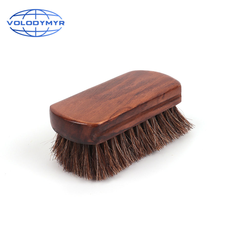 Car Wash Horsehair Brush Brown Detailing Tools Accessories Clean For Auto Cleaning Seat And Leather Sheath