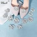 Miallo/Модная женская обувь с пряжкой и кристаллами серебристого цвета; Свадебные зажимы для обуви; Аксессуары для выпускного вечера; Ювелирны...