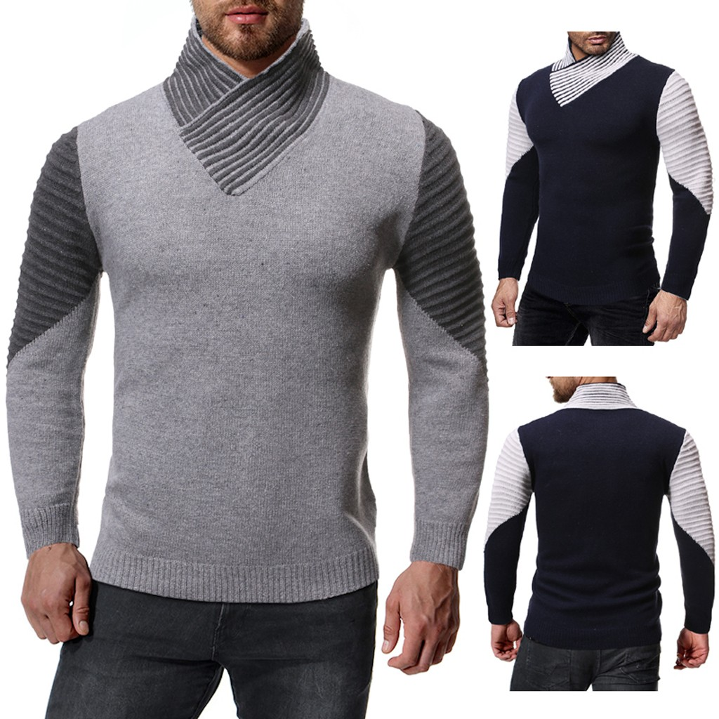 2019 Hot Products Men's Autumn Winter Fashion Knitted Round CollarSweater Warm Top Coat  Dropshipping Discount Free Shipping