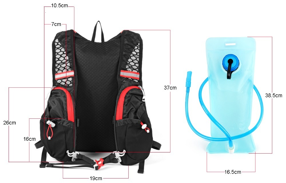 18LRunning Bag Bicycle Backpack Train Running Cycling Marathon Bag Rucksack Hydration Men Sport Bags Waterproof Riding BikeBack  (11)
