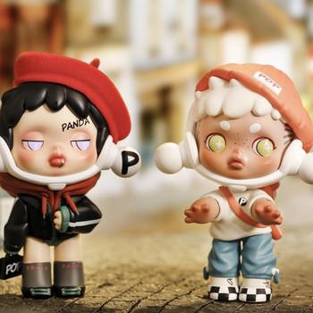 POPMART Skullpanda Panda pudełko z niespodzianką zabawki zgadnij torba Caja Ciega zabawki zwierzęta kreskówkowe figurki niespodzianka Box dla chłopców dziewcząt prezent tanie i dobre opinie RARBRL CN (pochodzenie) Model 7-12y 12 + y 18 + Approx 8-9cm Wyroby gotowe Gotowy żołnierzyk PIERWSZA EDYCJA Unisex lalki
