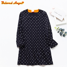Girls Autumn Winter Dress Kids Fashion A-line Dresses Long Sleeve O Neck Children Clothing Dress 3-8 Years Baby Clothes
