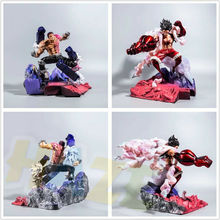 Monkey D Luffy VS Charlotte Katakuri Statue Painted Model Anime One Piece Action Figure Toy GK Collection In Box