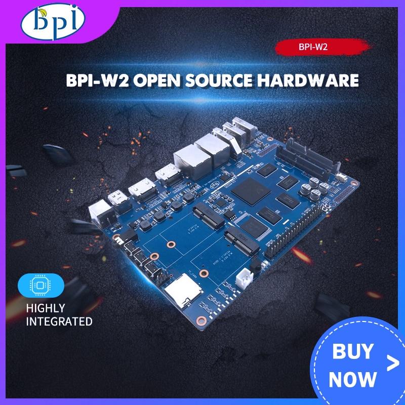 Banana Pi W2 BPI-W2 + Acrylic Case + 12V 2A DC Power For Banana Pi W2 Smart NAS Router RTD1296 Chip Design For Game Center