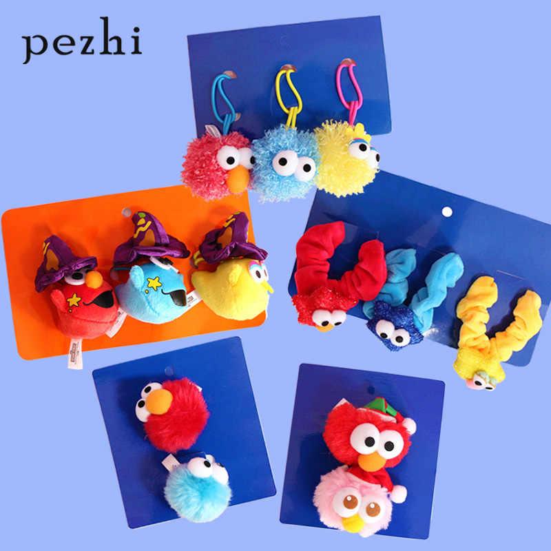Ulzzang populaire schattige pop Sesamstraat Halloween Kerst meisje hart kinderen haar touw hoofdband hoofdtooi set gift