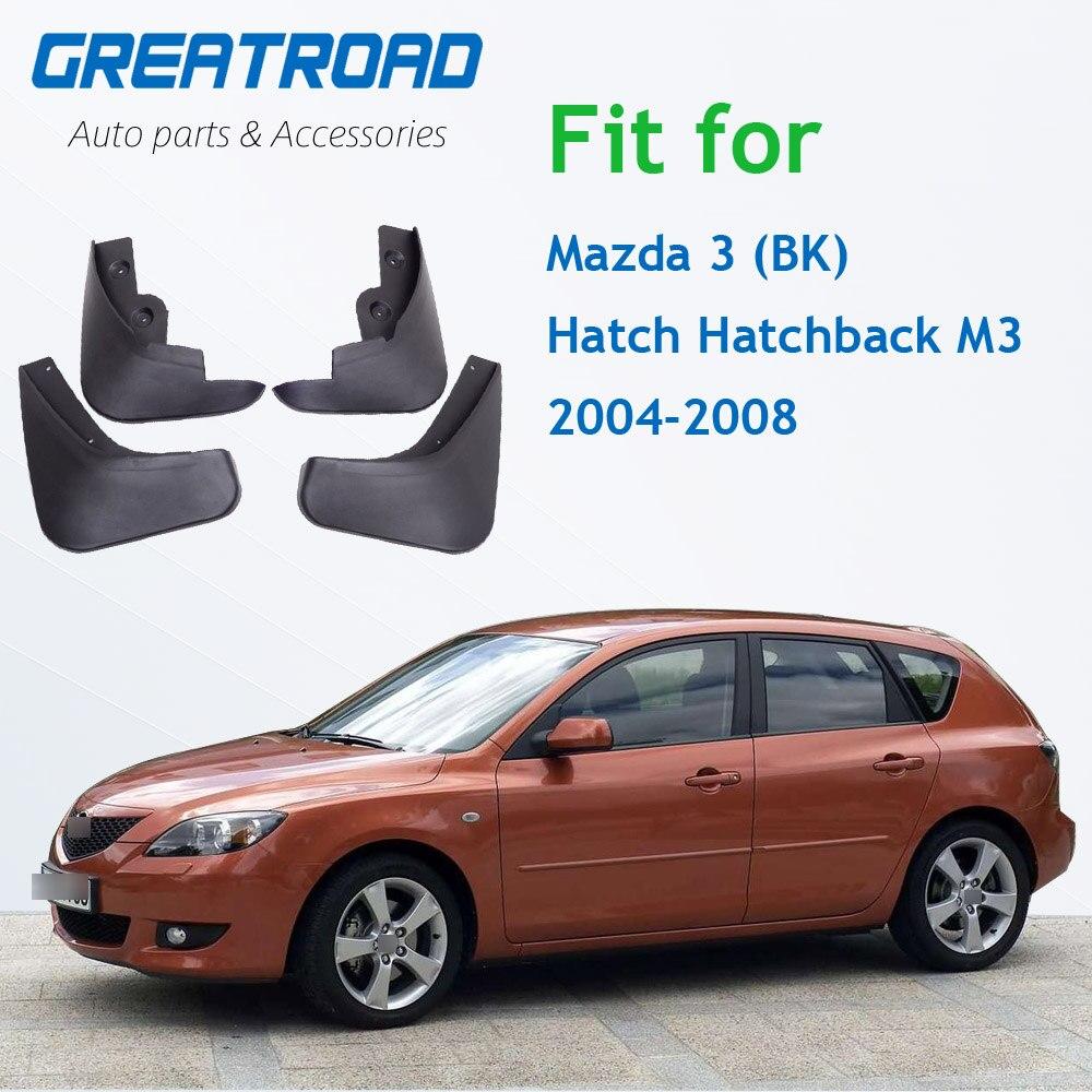 Брызговики для Mazda 3 (BK) хэтчбек M3 2004-2008 автомобилей спереди и сзади для Fender Брызговики