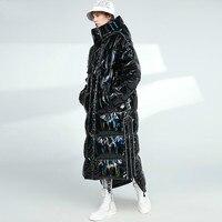 Women's Jacket Hooded Thick Winter Coat Men Clothing 2020 Korean Warm Long Duck Down Jackets Fashion Outwear 9047
