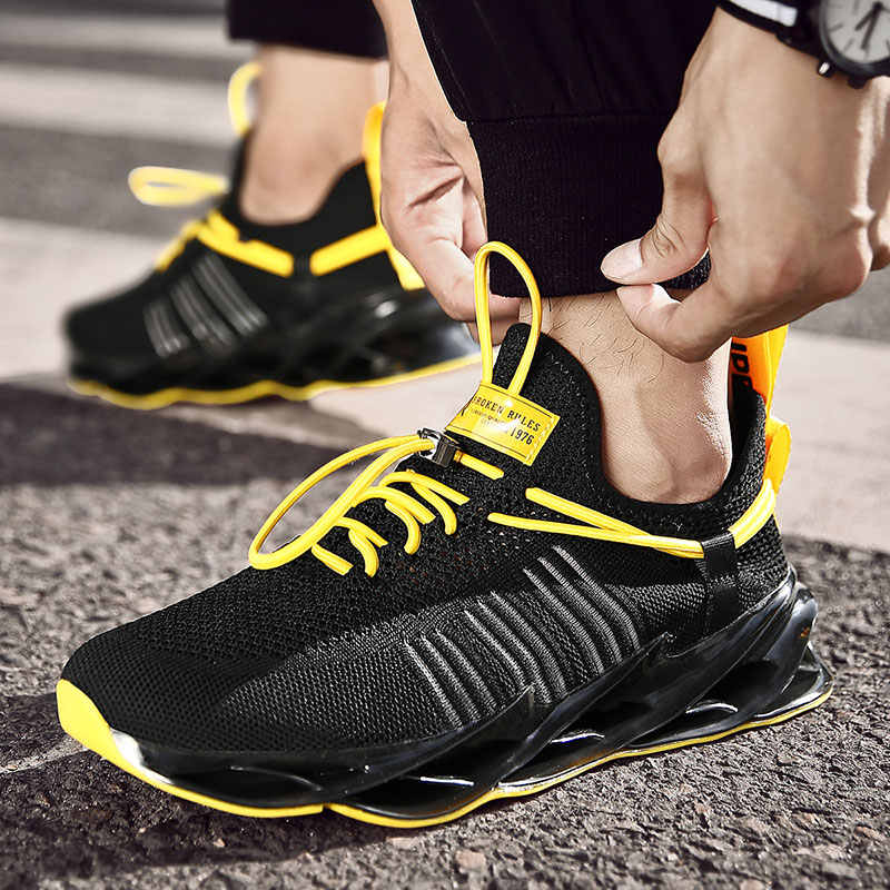 Bıçak erkekler Sneakers Light açık Trend meslek spor ayakkabılar Zapatos Hombre erkekler koşu ayakkabıları hava örgü erkek spor ayakkabı