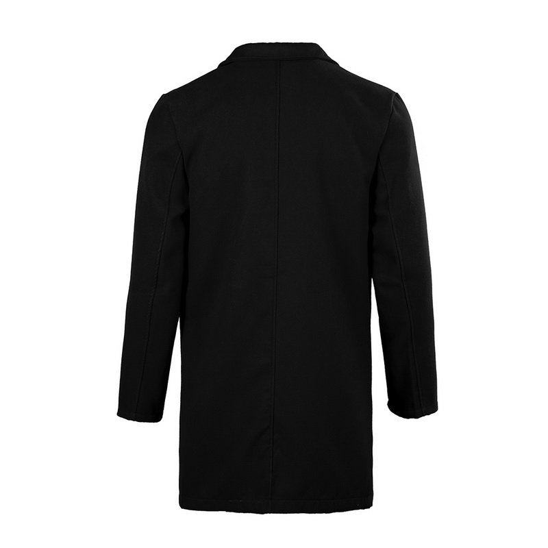 2019 Winter Wool Jacket Men's High-quality Wool Coat Casual Slim Collar Woolen Coat Men's Long Cotton Collar Trench Coat 16