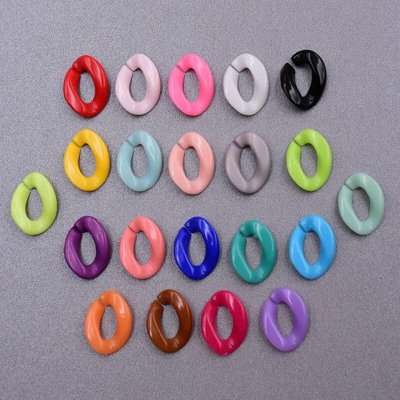 100 шт., цепочки для бижутерии, 25 цветов, 23 х17 мм