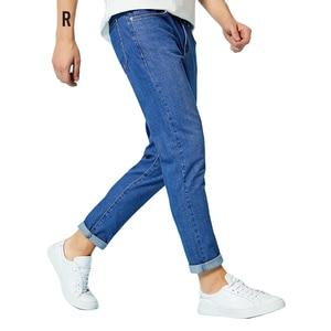 Image 3 - SEMIR 청바지 남성 스트레이트 바지 남성 클래식 청바지 남성 데님 청바지 디자이너 바지 캐주얼 세련된 패션 바지 탄력 블루