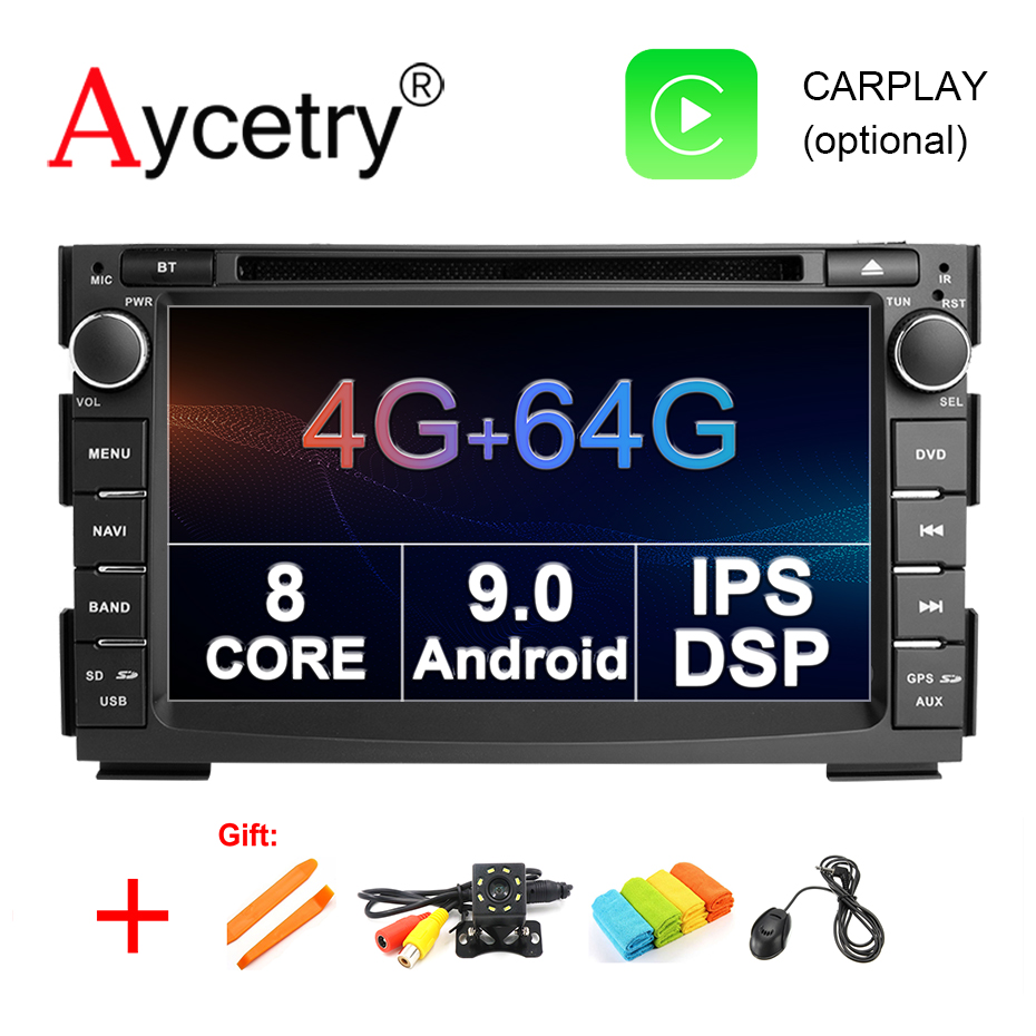 Aycetry IPS DSP 2 Din 64G Android 9 car multimedia dvd player For KIA Ceed 2009