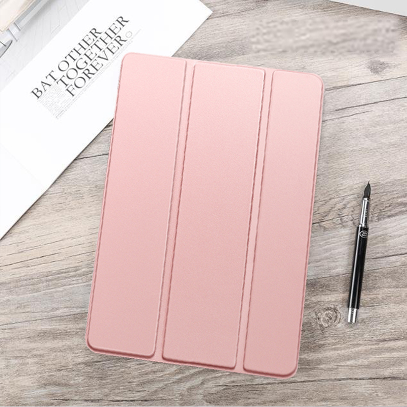 Rose Gold Red Funda For iPad Air 4 2020 10 9 PU Leather Trifold Stand Case For iPad Air4