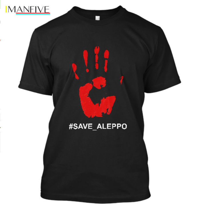 2019 Summer Mens Print T Shirt Save Aleppo Support The Children of Syria Save_Aleppo Black T Shirt Size S 5XL T Shirt in T Shirts from Men 39 s Clothing