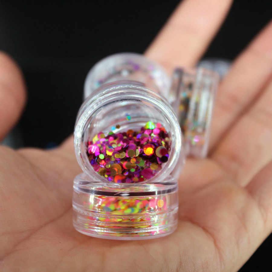 1Pcs DIY Geel Oranje Ronde Pailletten Nail Strass Kleine Onregelmatige Kralen Manicure 3D Nail Art Decoratie In Wiel Accessoires