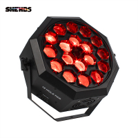 SHEHDS Led 18x12W Bee Eye Par Light RGBW 21/12 DMX Professional High Quality Stage DJ party Ballroom Bar Wedding Effect Light