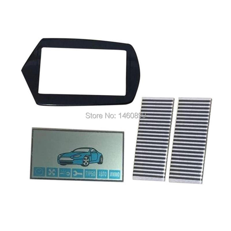 A91 Flexible Cable A91 LCD Display + Keychain Glass Cover Case For StarLine A91 Lcd Remote Control Key With Zebra Stripes Paper