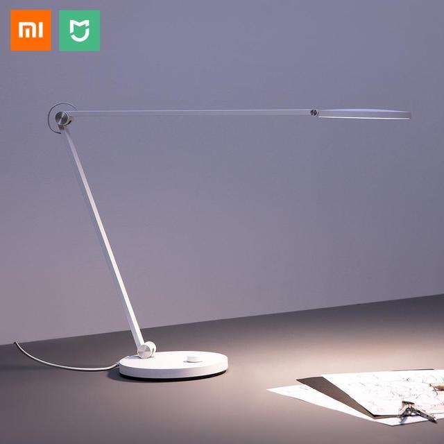 Умная Светодиодная настольная лампа Xiaomi Mijia Pro, оригинальная Настольная лампа с дистанционным управлением через приложение, Bluetooth, Wi Fi, голосовым управлением, работает с приложением Apple HomeKit, 240 В
