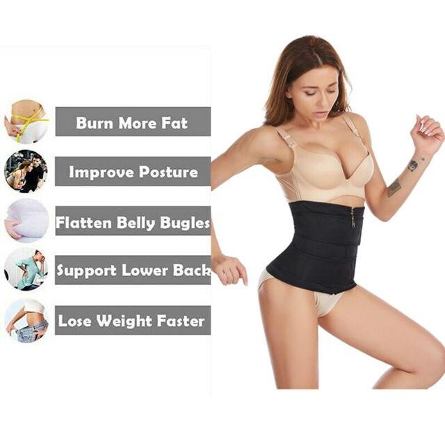Women Waist Trainer Neoprene Belt Hot Sauna Sweat Body Shaper Tummy Control Slim 2