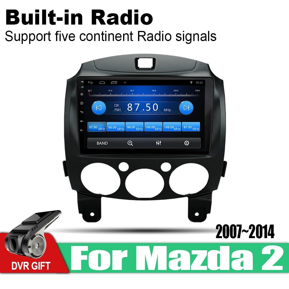 ZaiXi 9 Inch 2Din Android Car Radio Wifi Autoradio HD Bluetooth Tochscreen GPS Multimedia Player For Mazda 2 2007 2014 in Car Multimedia Player from Automobiles Motorcycles