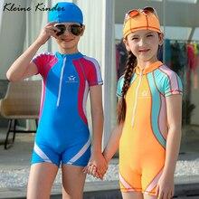 Купальный костюм для девочек, сдельный купальник для мальчиков UPF50, Спортивный Купальный костюм для детей, одежда для купания для подростков и больших мальчиков и девочек костюм для серфинга