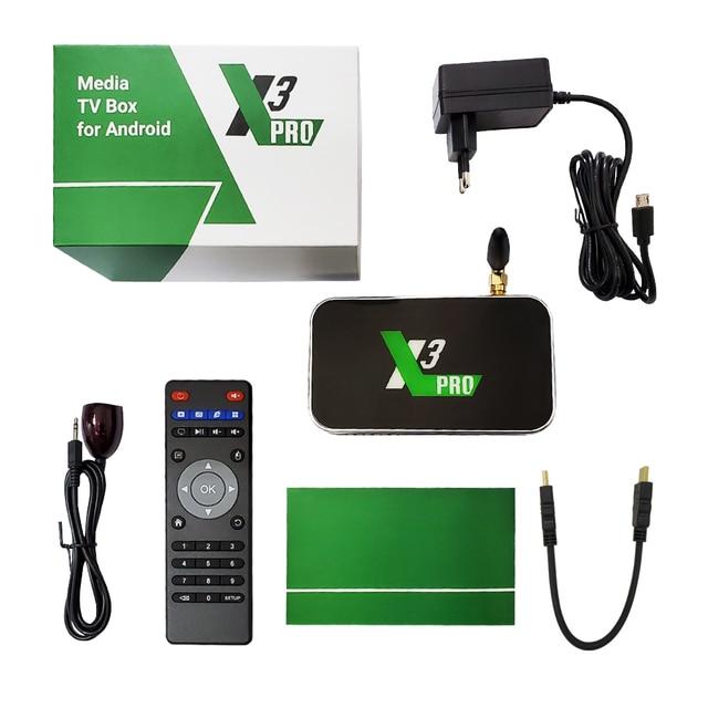 X3 PRO X3 CUBE Amlogic S905X3 Android TV Box 4GB DDR4 16GB 32GB ROM 2.4G 5G WiFi 1000M LAN 4K HD lecteur multimédia