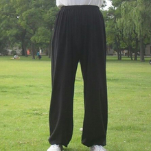 Men Women Tai Chi Trousers Outdoor Taekwondo Karate Judo Chinese Kung Fu 95 Cm-185 Cm Cotton Black Martial Art Training Pants
