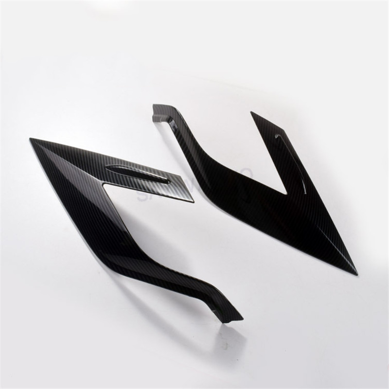 For Toyota <font><b>RAV</b></font> <font><b>4</b></font> RAV4 <font><b>2018</b></font> 2019 ABS Carbon fiber accessories plated Rear Light Lamp Cover Trim Tail Light Cover image