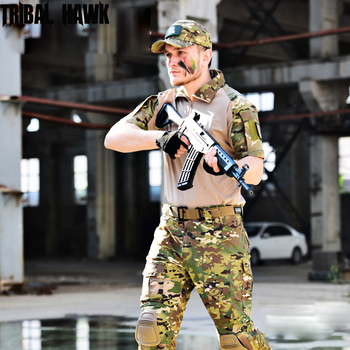 Tactical Uniforms Outdoor Military Camouflage Clothing Sets War Game Airsoft Combat Suits Working Hunting Clothes with Kneepsd