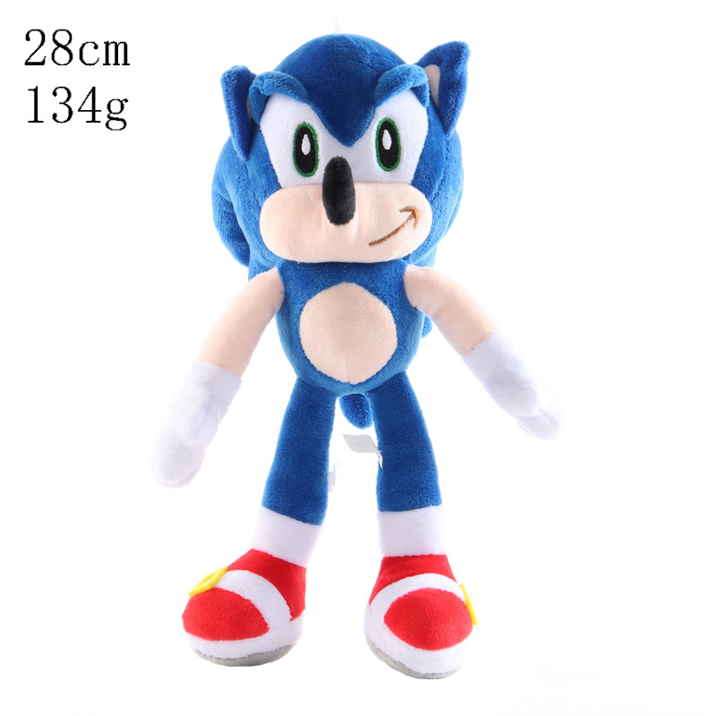 27cm Sonic Toys Super Sonic The Hedgehog Plush Toy Sonic Shadow Knuckles Tails Cute Soft Stuffed Dolls Keychain