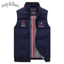 2020 Casual Autumn Cotton Liner Thick Vests for men Kenty Shark Brand Jacket Sleeveless Keep Warm Parka Coats Men Plus Size 4XL