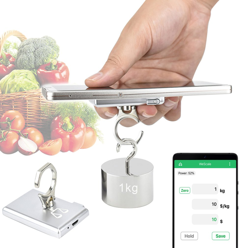 Mini Pocket Digital Electronic Weighing Scales Multi-functional Bluetooth Kitchen Electronic Scale Hook