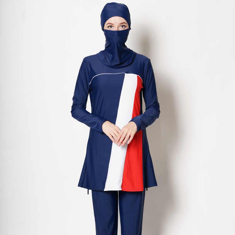 السيدات ملابس السباحة متواضعة ملابس السباحة مسلم ملابس السباحة مسلم NewWomen حجم كبير الأزهار ملابس سباحة إسلامية الحجاب Muslima