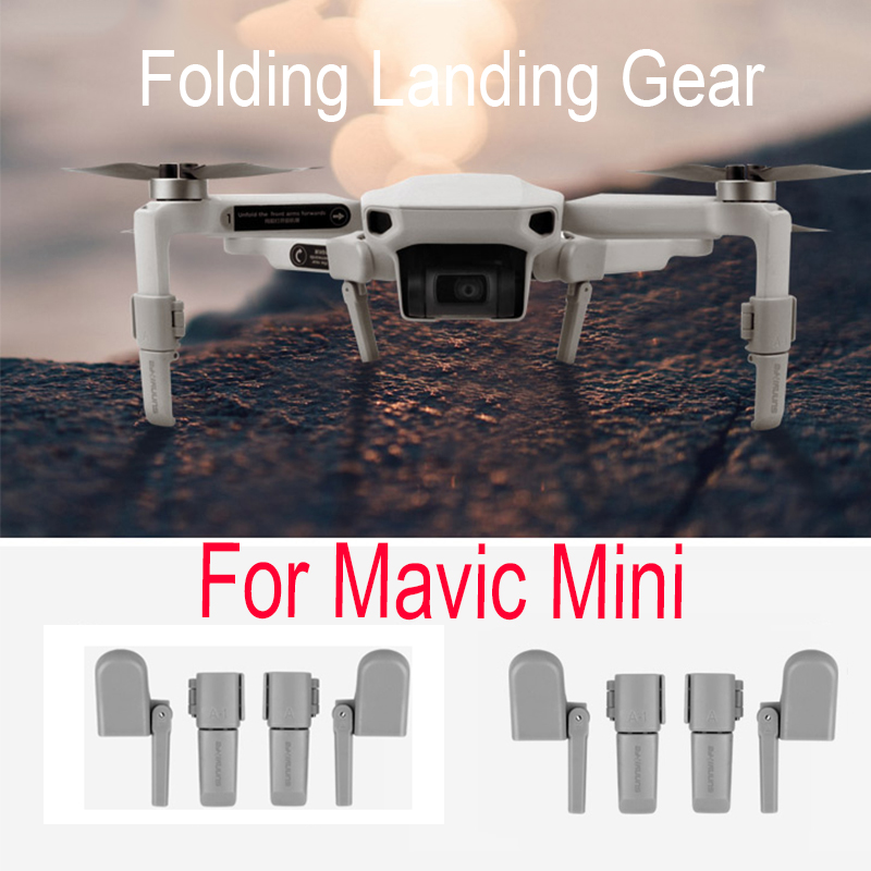 Folding Landing Gear For DJI Mavic Mini Drone Height Extender Foldable Landing Gear Mount Stand Protector Accessories
