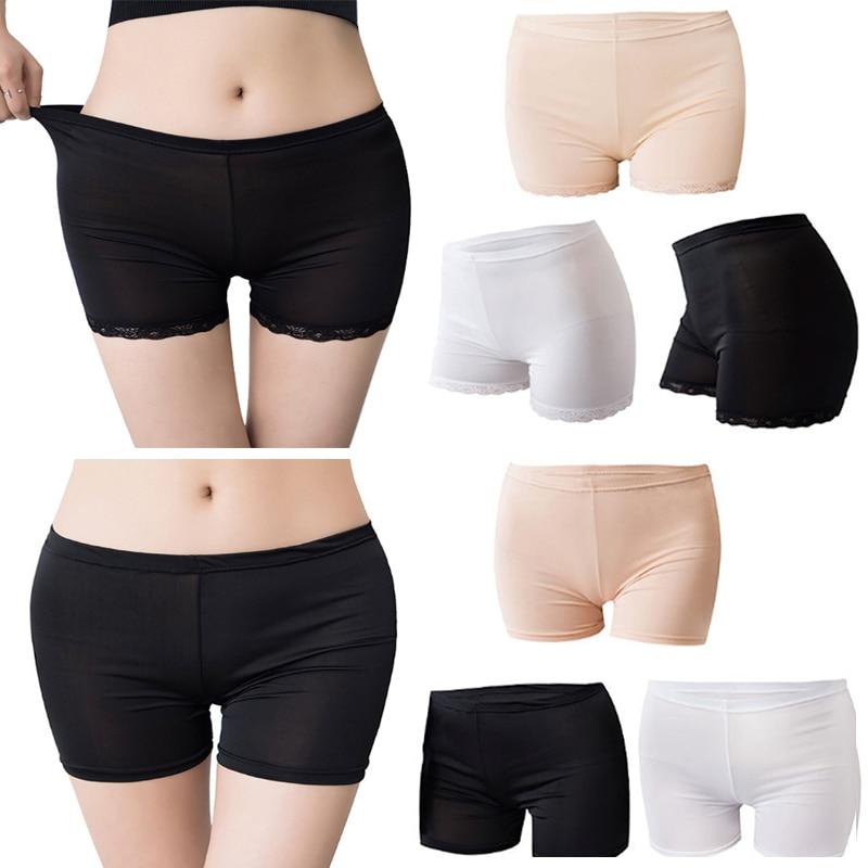 Women Soft Cotton Seamless Safety Short Pants Panties Summer Under Skirt Shorts Modal Ice Silk Breathable Short Tight Underwear 1