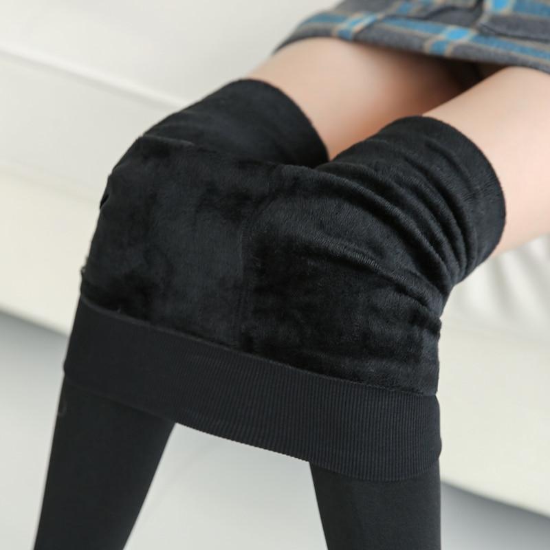 NORMOV kadın sıcak tozluk yüksek bel elastik kalın kadife tozluk tayt spor düz ince Legging kadın artı boyutu