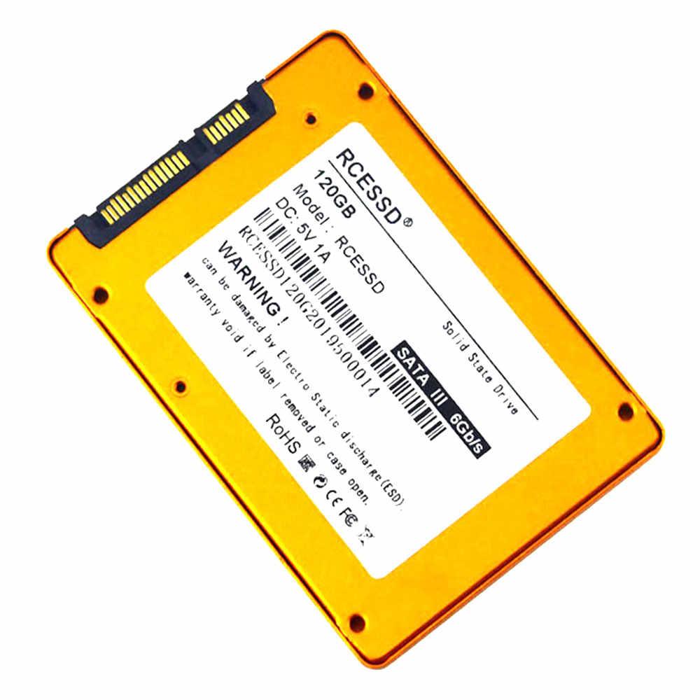 RCESSD SSD 2.5 אינץ SATA3 120GB 128GB 240GB 256GB 360GB הפנימי דיסק קשיח כונן HDD 60GB 64GB 480GB 512GB 1TB