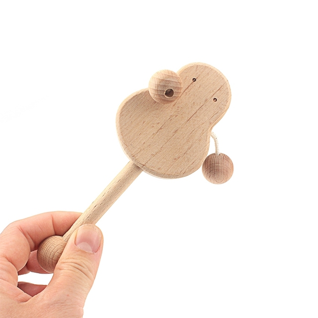 Montessori Newborn Infant Toys Wooden Object Fitting Exercise Hand Grasped Toy Egg Cup Cube Box Baby Bed Bell Rattle Vocal Gift