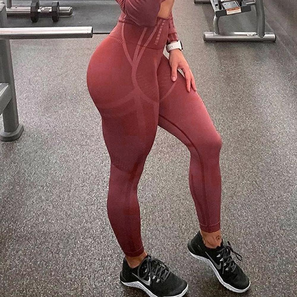 Fashion Push Up Women Sexy Casual Pants Gym Leggings High Waist Elastic Sports Pants Workout Running Legging Fitness Leggings
