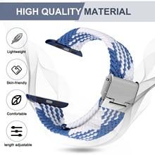 Sport Solo Schleife Strap für AppleWatch 6 Band 44mm 40mm Zubehör Nylon-Armband Armband Einstellbar Geflochtene Armband