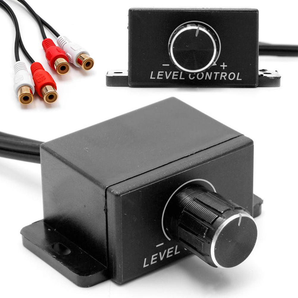 Universal Car Dash Audio Amplifier Bass RCA Level Remote Volume Control Knob